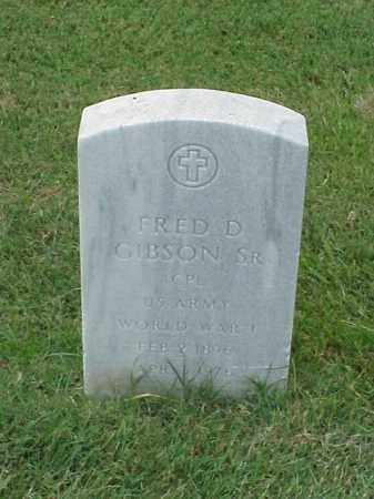 GIBSON, SR (VETERAN WWI), FRED D - Pulaski County, Arkansas | FRED D GIBSON, SR (VETERAN WWI) - Arkansas Gravestone Photos