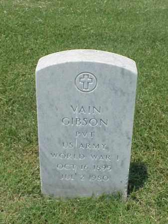 GIBSON (VETERAN WWI), VAIN - Pulaski County, Arkansas | VAIN GIBSON (VETERAN WWI) - Arkansas Gravestone Photos