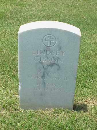 GIBSON (VETERAN WWII), LINDSEY - Pulaski County, Arkansas   LINDSEY GIBSON (VETERAN WWII) - Arkansas Gravestone Photos
