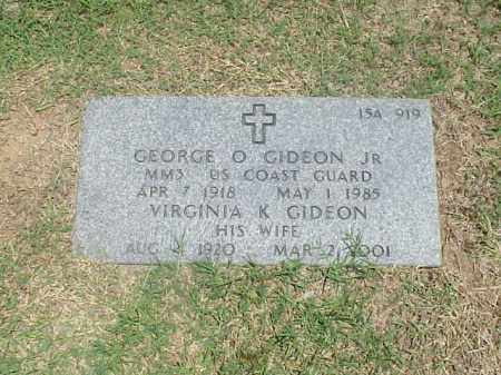 GIDEON, JR (VETERAN WWII), GEORGE O - Pulaski County, Arkansas | GEORGE O GIDEON, JR (VETERAN WWII) - Arkansas Gravestone Photos