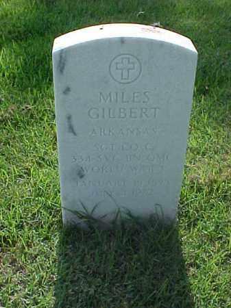 GILBERT (VETERAN WWI), MILES - Pulaski County, Arkansas   MILES GILBERT (VETERAN WWI) - Arkansas Gravestone Photos