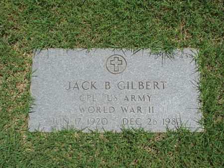 GILBERT (VETERAN WWII), JACK B - Pulaski County, Arkansas   JACK B GILBERT (VETERAN WWII) - Arkansas Gravestone Photos