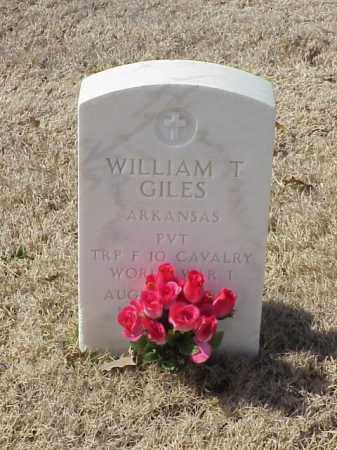 GILES (VETERAN WWI), WILLIAM T - Pulaski County, Arkansas   WILLIAM T GILES (VETERAN WWI) - Arkansas Gravestone Photos