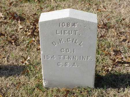 GILL (VETERAN CSA), D K - Pulaski County, Arkansas   D K GILL (VETERAN CSA) - Arkansas Gravestone Photos