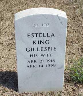 GILLESPIE, ESTELLA KING - Pulaski County, Arkansas | ESTELLA KING GILLESPIE - Arkansas Gravestone Photos