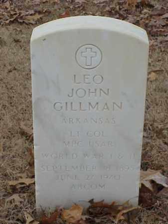 GILLMAN (VETERAN 2 WARS), LEO JOHN - Pulaski County, Arkansas | LEO JOHN GILLMAN (VETERAN 2 WARS) - Arkansas Gravestone Photos