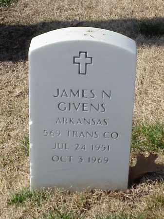 GIVENS  (VETERAN VIET), JAMES N - Pulaski County, Arkansas   JAMES N GIVENS  (VETERAN VIET) - Arkansas Gravestone Photos