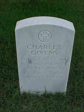 GIVENS (VETERAN WWI), CHARLEY - Pulaski County, Arkansas | CHARLEY GIVENS (VETERAN WWI) - Arkansas Gravestone Photos
