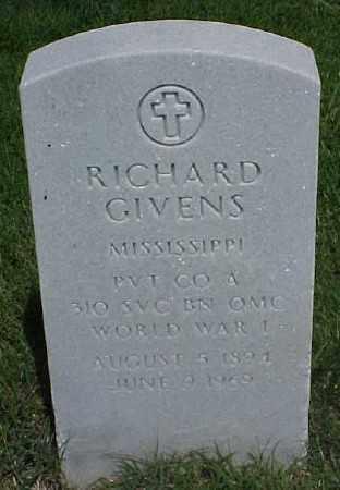 GIVENS (VETERAN WWI), RICHARD - Pulaski County, Arkansas | RICHARD GIVENS (VETERAN WWI) - Arkansas Gravestone Photos