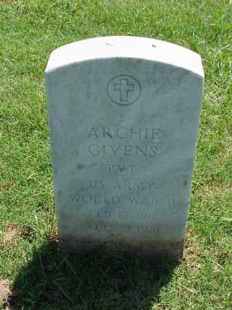 GIVENS (VETERAN WWII), ARCHIE - Pulaski County, Arkansas | ARCHIE GIVENS (VETERAN WWII) - Arkansas Gravestone Photos