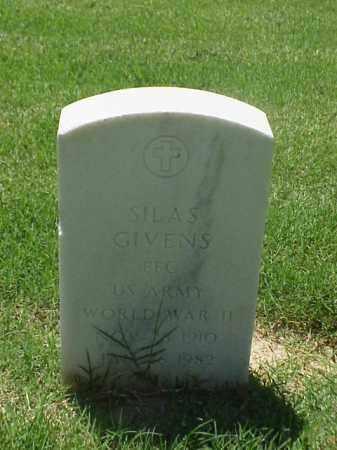GIVENS (VETERAN WWII), SILAS - Pulaski County, Arkansas | SILAS GIVENS (VETERAN WWII) - Arkansas Gravestone Photos