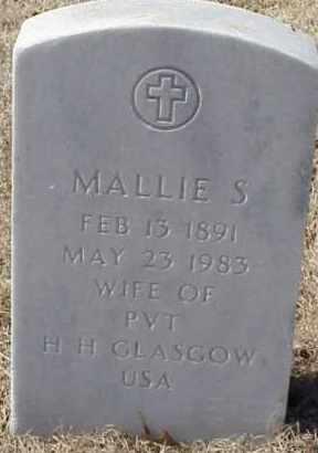 GLASCOW, MALLIE S. - Pulaski County, Arkansas   MALLIE S. GLASCOW - Arkansas Gravestone Photos