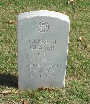 GLASER  (VETERAN WWII), CLYDE B - Pulaski County, Arkansas   CLYDE B GLASER  (VETERAN WWII) - Arkansas Gravestone Photos
