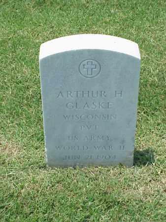 GLASKE (VETERAN WWII), ARTHUR H - Pulaski County, Arkansas   ARTHUR H GLASKE (VETERAN WWII) - Arkansas Gravestone Photos