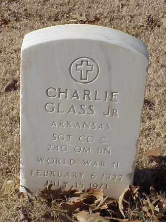GLASS, JR  (VETERAN WWII), CHARLIE - Pulaski County, Arkansas | CHARLIE GLASS, JR  (VETERAN WWII) - Arkansas Gravestone Photos