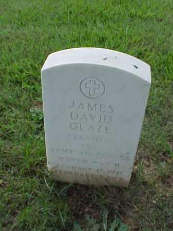 GLAZE (VETERAN WWII), JAMES DAVID - Pulaski County, Arkansas   JAMES DAVID GLAZE (VETERAN WWII) - Arkansas Gravestone Photos