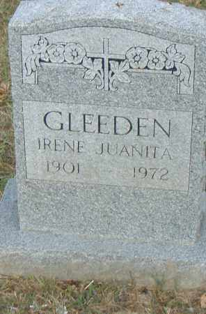 GLEEDEN, IRENE JUANITA - Pulaski County, Arkansas   IRENE JUANITA GLEEDEN - Arkansas Gravestone Photos