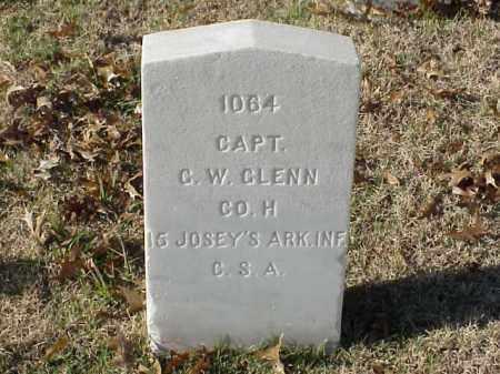 GLENN  (VETERAN CSA), G W - Pulaski County, Arkansas   G W GLENN  (VETERAN CSA) - Arkansas Gravestone Photos