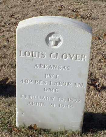 GLOVER (VETERAN WWI), LOUIS - Pulaski County, Arkansas | LOUIS GLOVER (VETERAN WWI) - Arkansas Gravestone Photos