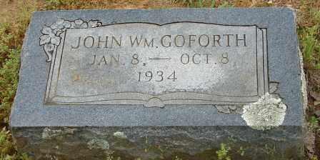 GOFORTH, JOHN WILLIAM - Pulaski County, Arkansas | JOHN WILLIAM GOFORTH - Arkansas Gravestone Photos