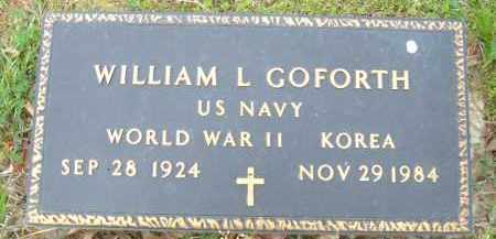 GOFORTH (VETERAN 2 WARS), WILLIAM L - Pulaski County, Arkansas   WILLIAM L GOFORTH (VETERAN 2 WARS) - Arkansas Gravestone Photos