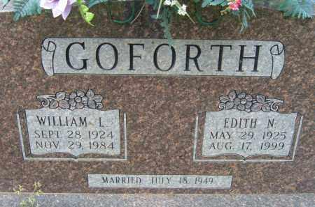 GOFORTH, WILLIAM L. - Pulaski County, Arkansas | WILLIAM L. GOFORTH - Arkansas Gravestone Photos