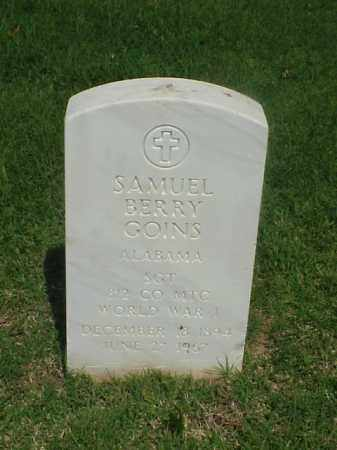 GOINS (VETERAN WWI), SAMUEL BERRY - Pulaski County, Arkansas   SAMUEL BERRY GOINS (VETERAN WWI) - Arkansas Gravestone Photos