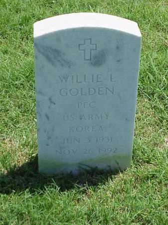 GOLDEN (VETERAN KOR), WILLIE L - Pulaski County, Arkansas | WILLIE L GOLDEN (VETERAN KOR) - Arkansas Gravestone Photos