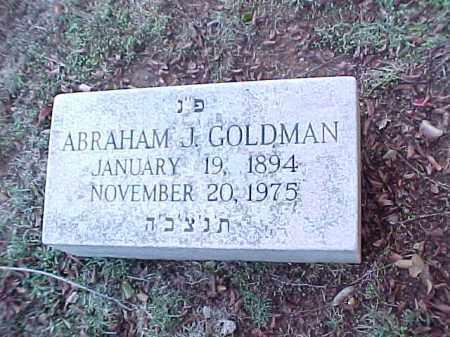 GOLDMAN, ABRAHAM J - Pulaski County, Arkansas | ABRAHAM J GOLDMAN - Arkansas Gravestone Photos