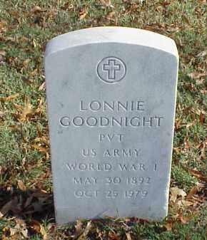 GOODNIGHT  (VETERAN WWI), LONNIE - Pulaski County, Arkansas | LONNIE GOODNIGHT  (VETERAN WWI) - Arkansas Gravestone Photos