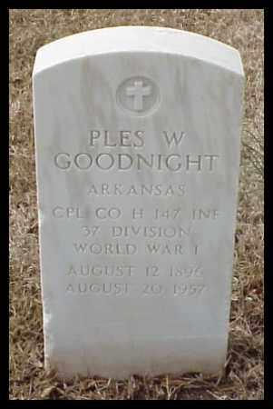 GOODNIGHT (VETERAN WWI), PLES W - Pulaski County, Arkansas | PLES W GOODNIGHT (VETERAN WWI) - Arkansas Gravestone Photos