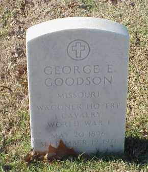 GOODSON  (VETERAN WWI), GEORGE E - Pulaski County, Arkansas | GEORGE E GOODSON  (VETERAN WWI) - Arkansas Gravestone Photos