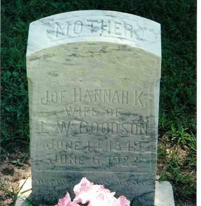 GOODSON, JOE HANNA KATHERINE - Pulaski County, Arkansas   JOE HANNA KATHERINE GOODSON - Arkansas Gravestone Photos