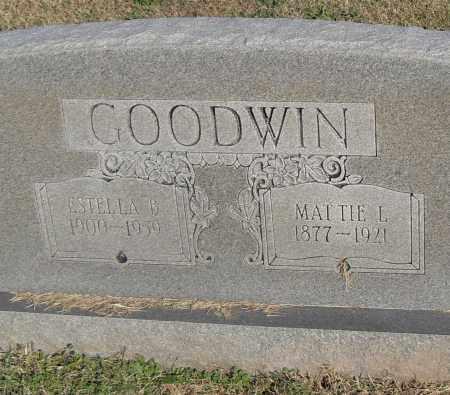 GOODWIN, MATTIE L. - Pulaski County, Arkansas | MATTIE L. GOODWIN - Arkansas Gravestone Photos