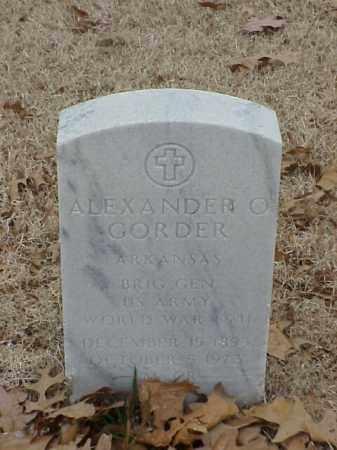 GORDER (VETERAN 2 WARS), ALEXANDER O - Pulaski County, Arkansas   ALEXANDER O GORDER (VETERAN 2 WARS) - Arkansas Gravestone Photos