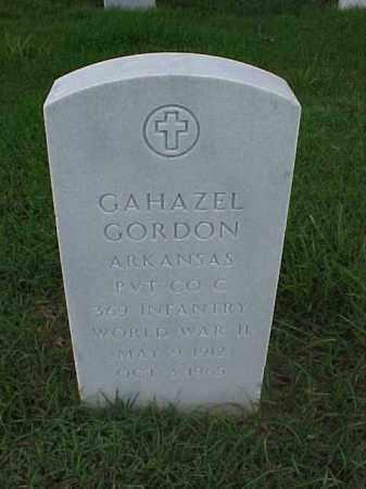 GORDON (VETERAN WWII), GAHAZEL - Pulaski County, Arkansas   GAHAZEL GORDON (VETERAN WWII) - Arkansas Gravestone Photos