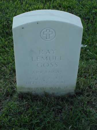 GOSS (VETERAN WWII), RAY LEMUEL - Pulaski County, Arkansas | RAY LEMUEL GOSS (VETERAN WWII) - Arkansas Gravestone Photos