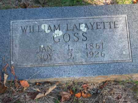 GOSS, WILLIAM LAFAYETTE - Pulaski County, Arkansas   WILLIAM LAFAYETTE GOSS - Arkansas Gravestone Photos