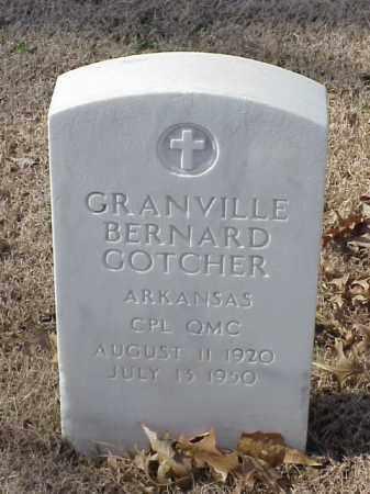 GOTCHER  (VETERAN), GRANVILLE BERNARD - Pulaski County, Arkansas | GRANVILLE BERNARD GOTCHER  (VETERAN) - Arkansas Gravestone Photos