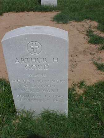 GOUD (VETERAN WWI), ARTHUR H - Pulaski County, Arkansas | ARTHUR H GOUD (VETERAN WWI) - Arkansas Gravestone Photos