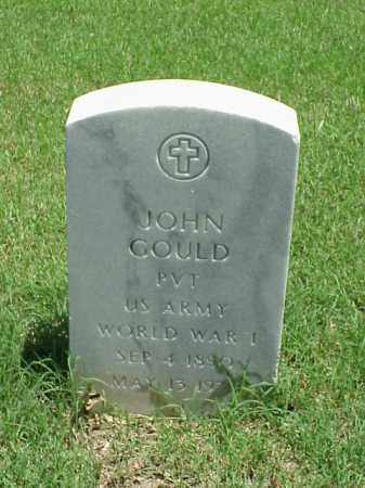 GOULD (VETERAN WWI), JOHN - Pulaski County, Arkansas | JOHN GOULD (VETERAN WWI) - Arkansas Gravestone Photos