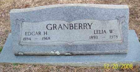 GRANBERRY, EDGAR HODGES - Pulaski County, Arkansas   EDGAR HODGES GRANBERRY - Arkansas Gravestone Photos