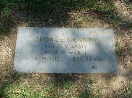 GRANDY (VETERAN WWII), GEORGE - Pulaski County, Arkansas | GEORGE GRANDY (VETERAN WWII) - Arkansas Gravestone Photos