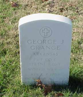 GRANGE  (VETERAN WWII), GEORGE J - Pulaski County, Arkansas | GEORGE J GRANGE  (VETERAN WWII) - Arkansas Gravestone Photos