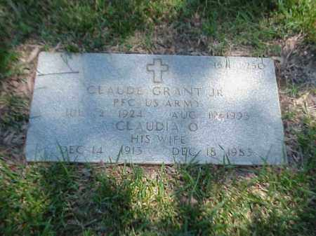 GRANT, CLAUDIA O - Pulaski County, Arkansas | CLAUDIA O GRANT - Arkansas Gravestone Photos