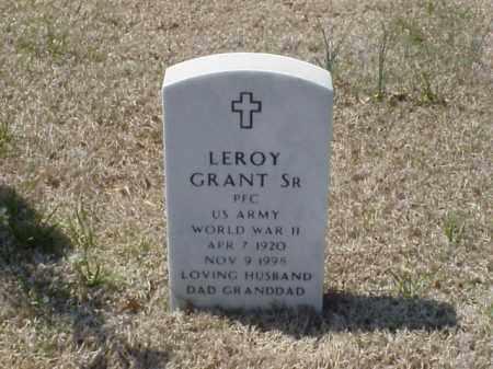 GRANT, SR (VETERAN WWII), LEROY - Pulaski County, Arkansas   LEROY GRANT, SR (VETERAN WWII) - Arkansas Gravestone Photos