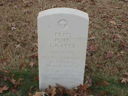 GRAVES  (VETERAN WWI), FRED POPE - Pulaski County, Arkansas   FRED POPE GRAVES  (VETERAN WWI) - Arkansas Gravestone Photos