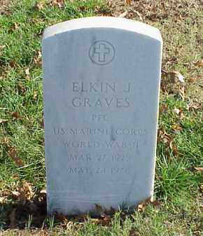 GRAVES  (VETERAN WWII), ELKIN J - Pulaski County, Arkansas | ELKIN J GRAVES  (VETERAN WWII) - Arkansas Gravestone Photos