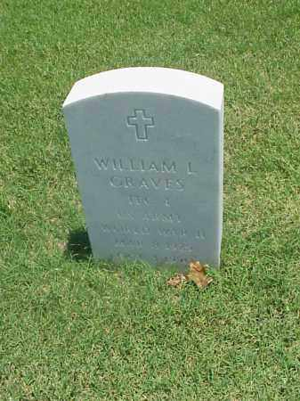 GRAVES (VETERAN WWII), WILLIAM L - Pulaski County, Arkansas | WILLIAM L GRAVES (VETERAN WWII) - Arkansas Gravestone Photos