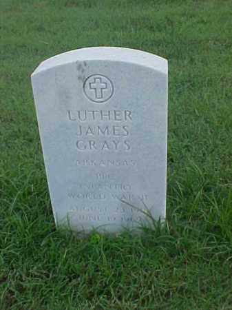 GRAYS (VETERAN WWII), LUTHER JAMES - Pulaski County, Arkansas | LUTHER JAMES GRAYS (VETERAN WWII) - Arkansas Gravestone Photos